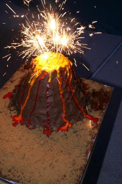 Volcano cake. By rivercityjax on CakeCentral.com