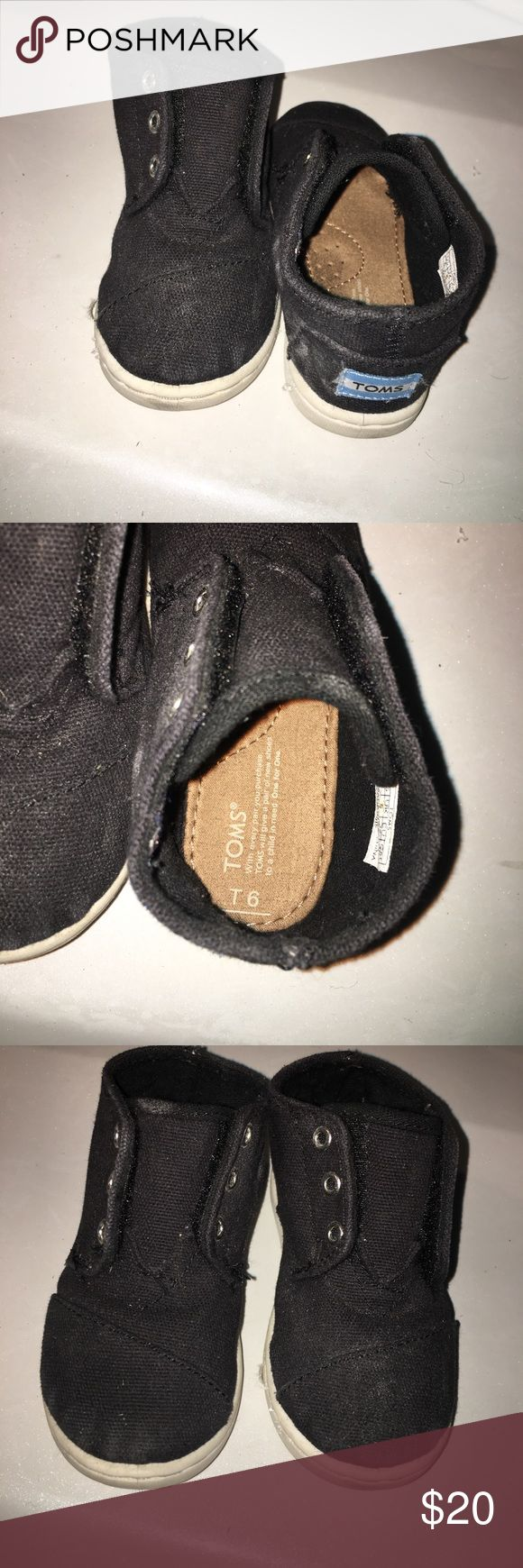 Black kids toms Worn. Clean. No trades TOMS Shoes Sneakers