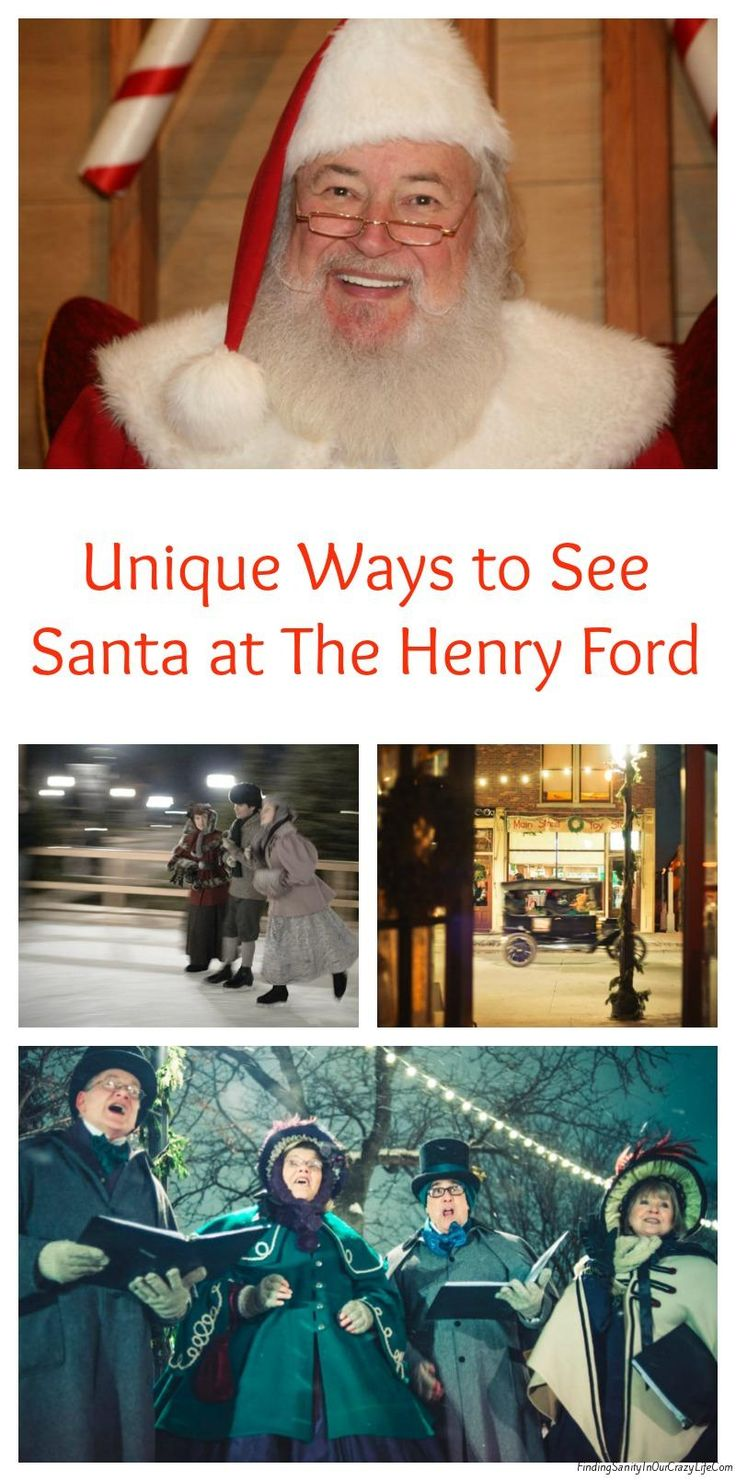 Discover all the unique ways you can see Santa at The Henry Ford this #Christmas season & make sure to purchase your tickets today! #TheHenryFord