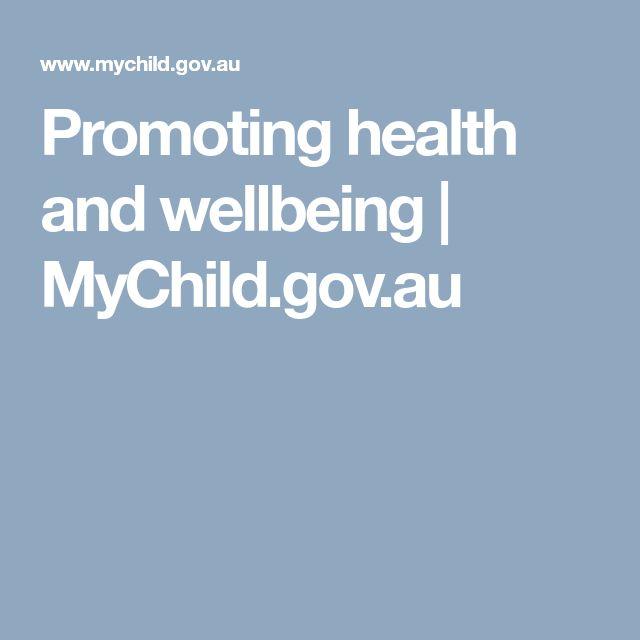 Promoting health and wellbeing | MyChild.gov.au