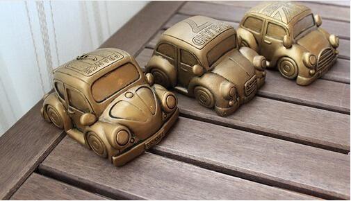 Винтажный стиль мини-смолы автомобиль копилка творческий подарок на день рождения милый копилку бесплатная доставка