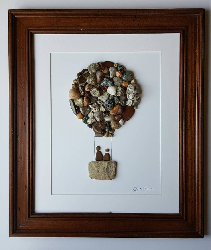 "26 Likes, 2 Comments - Sarah Hillman (@pumpkinandparsnip) on Instagram: ""Let's fly away... 10"" x 13"" Made using rocks collected from the shores of Lake Michigan and Lake…"""
