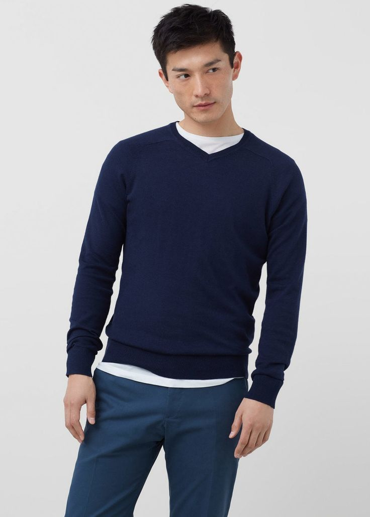 Cotton cashmere-blend sweater | MANGO MAN