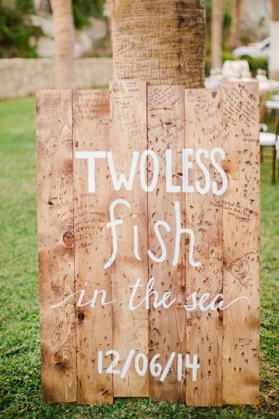 Two less fish in the sea: http://www.stylemepretty.com/destination-weddings/2015/04/29/cabo-san-lucas-beachside-hotel-wedding/ | Photography: Sara Richardson - http://www.sararichardsonphoto.com/