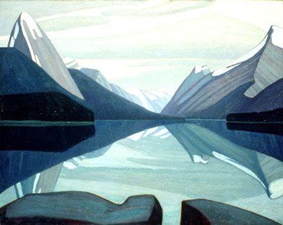 maligne lake, jasper park - lawren harris, 1924