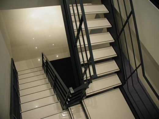 Prefab Stairs: Good Touch for Good Purpose : White Wooden Treads Prefab Stairs