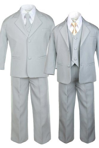 Unotux 6pc Boys Gray Tuxedo Suits with Satin Champagne Necktie from Baby to Teen (3T) Unotux,http://www.amazon.com/dp/B00HNHGR00/ref=cm_sw_r_pi_dp_I6pctb06Y0ZN4JKZ