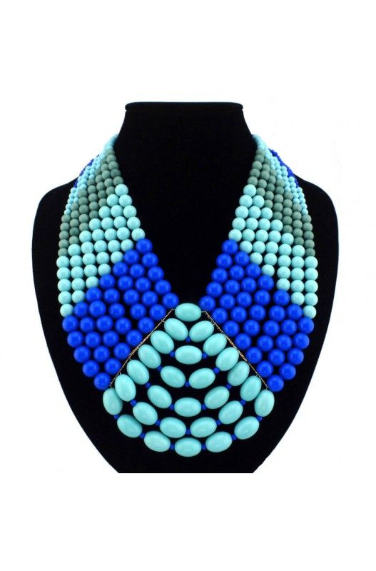 """""""In the Spotlight"""" Statement Necklace- Statement Necklace! Blue! Choker! Resin! 22 inches Long! Available in Blue or Purple! Limited Stock Shop Now!"""