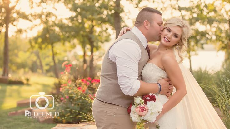 When the groom cries, we all cry. Loved this wedding from Skiatook Springs…