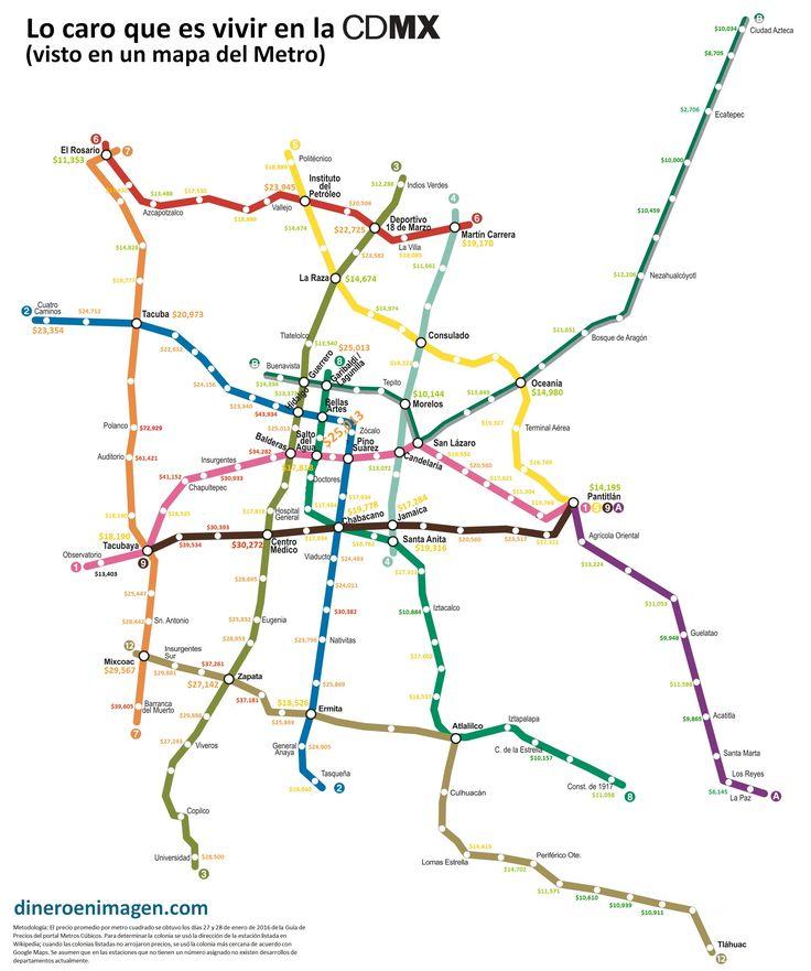 Lo caro que es vivir en la CDMX visto en un mapa del Metro
