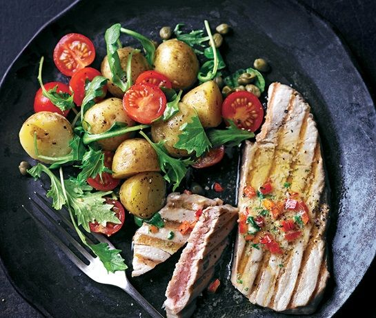 Tuna Steaks with Chili Lime Butter