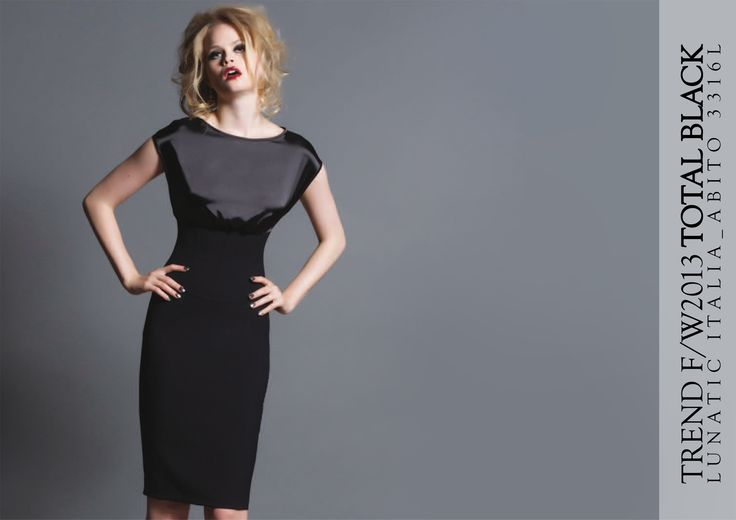 Fall Winter 2013 fashion trend Total black  Lunatic made in Italy http://bloglunaticitaly.wordpress.com/2013/09/04/total-black/