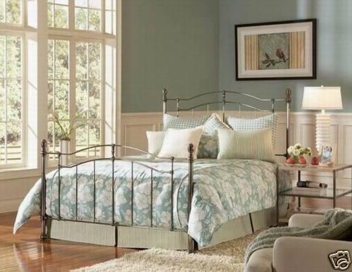 Brushed Nickel Bed Frame
