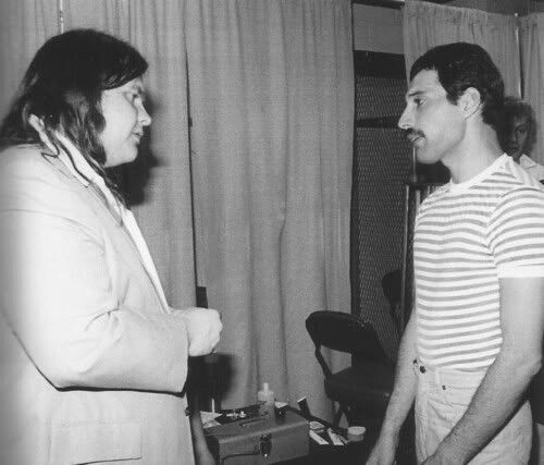 Meatloaf (Meatloaf) and Freddie Mercury (Queen), '70s/'80s.
