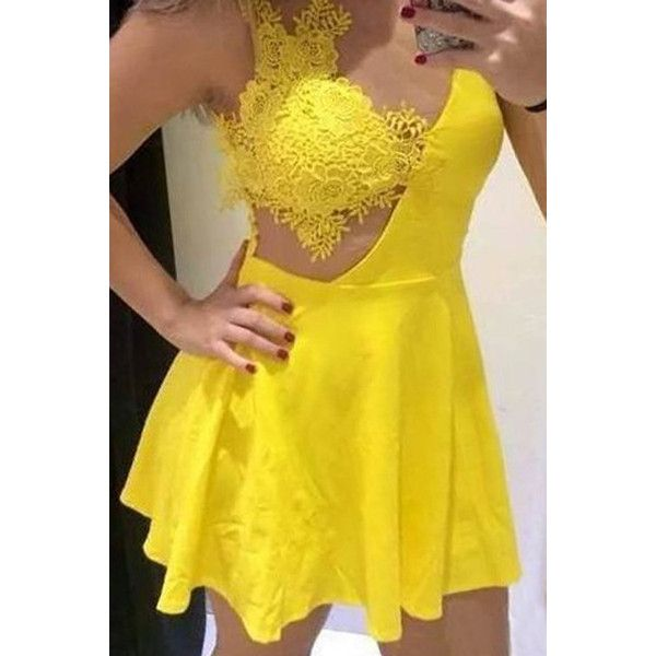 Top 25  best Yellow party dresses ideas on Pinterest | Open back ...