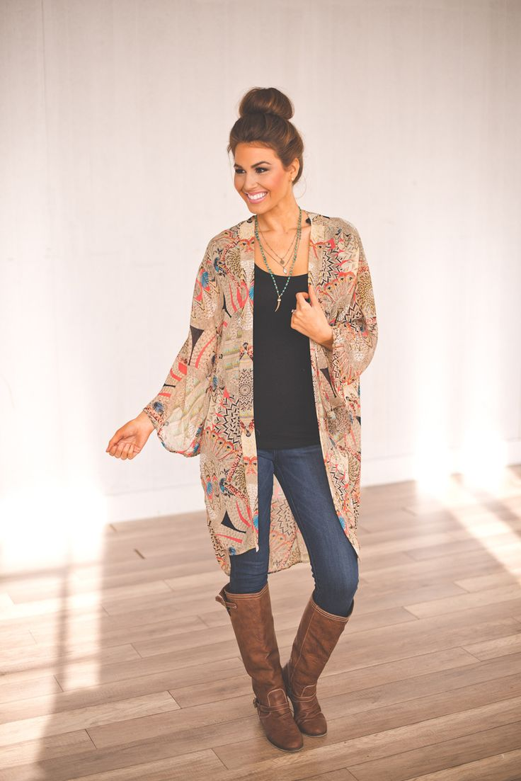 Dottie Couture Boutique - Boho Long Kimono, $42.00 (http://www ...