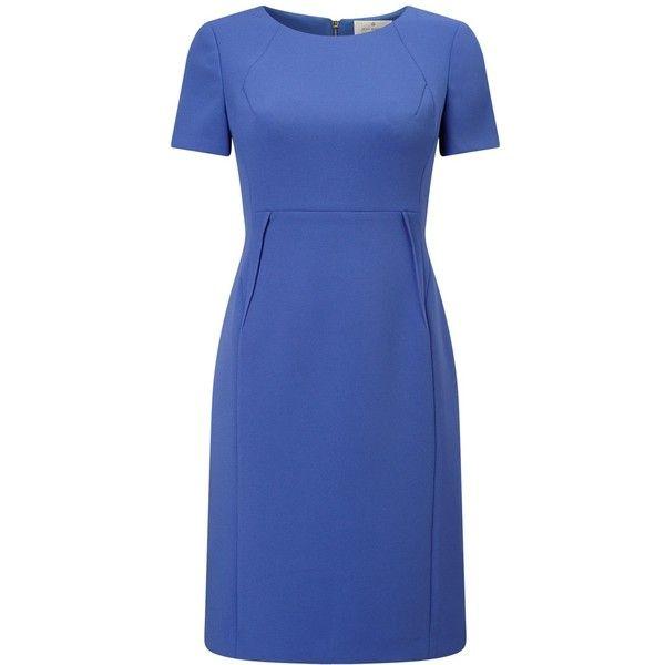 Precis Petite Jeff Banks Shift Dress ($93) ❤ liked on Polyvore featuring dresses, petite, midi dress, long-sleeve shift dresses, petite length maxi dresses, blue dresses and petite maxi dresses