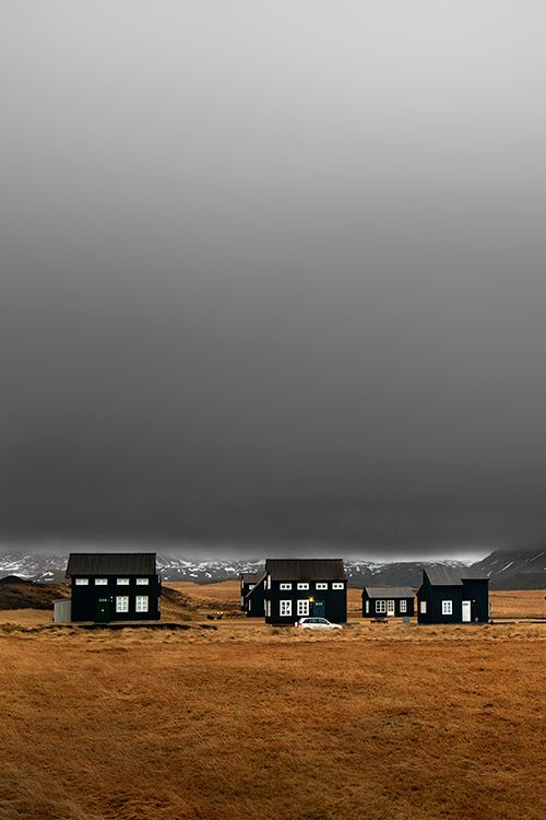 of black houses, iceland. (photo by yury pustovoy)Everything Black, Yuri Pustovoy, Black House, Nature Photos, House Iceland, Iceland Travel Guide, Architecture Inspiration, Arnarstapi Iceland, Faraway House