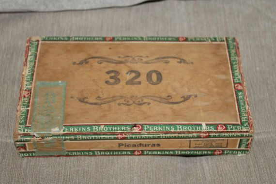Perkins Brothers Empty Cigar Box Manufactured by YourVintageDays