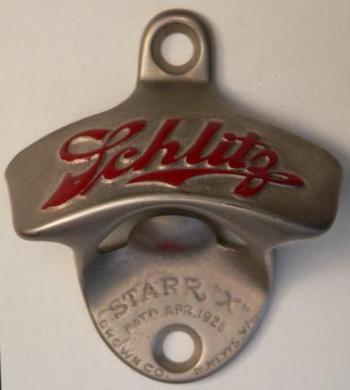 Vintage Schlitz beer bottle opener