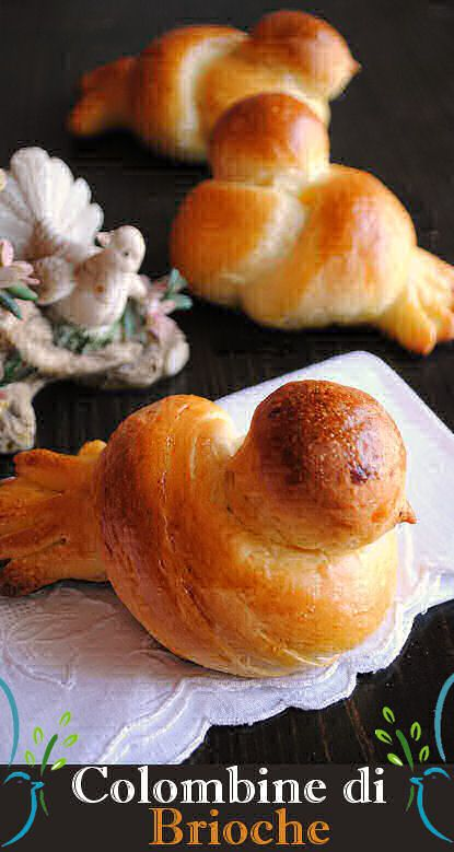 Volete divertirvi con la pasta brioche? E realizzare una colazione particolare, oppure dei simpatici, anche eleganti oserei dire, segnaposto per il prossimo pranzo di Pasqua? Guardate che carine queste colombine di brioche!
