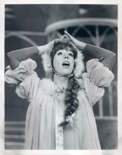 Carol Burnett in Once Upon a Mattress.  I watched this on TV in the early 1960's.