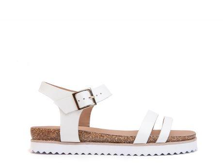 ZILIAN :: Loja Online | sapatos :: SPRING SUMMER :: Sandálias em pele branca