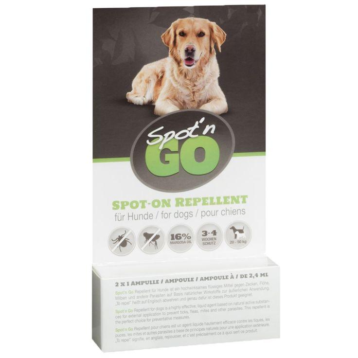 Animalerie  Antiparasitaire Spotn Go pour chien  6 pipettes pour petit chien