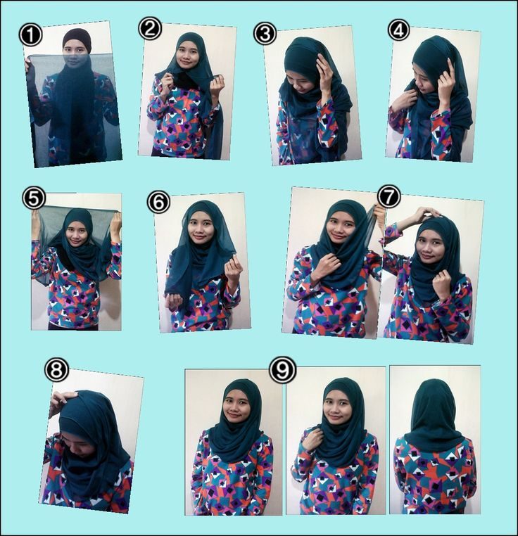 Tutorial Hijab Paris Semi Resmi