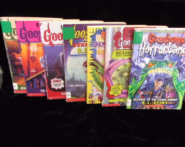 Lot 8 Goosebumps RL Stine Horrorland Series 2000 3-D Reader Beware Give Yourself