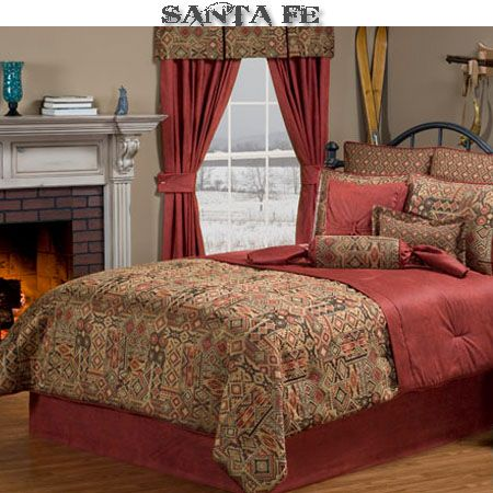 www.Delectably-Yours.com El Paso Southwestern Bedding Comforter Ensemble & Accessories #Southwestern #Bedroom #Decor #DelectablyYours