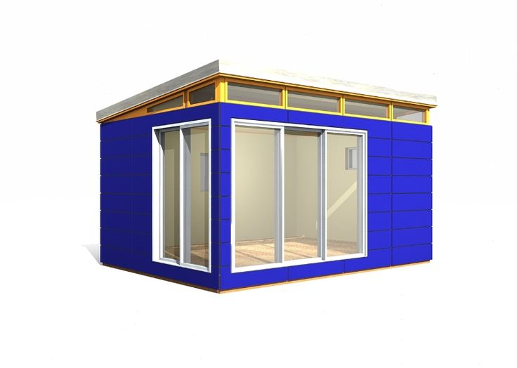 12 x 16 modern shed 192 sq ft prefab shed kit provided for Modular studio shed