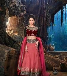 Buy Pink net embroidered  lehenga-choli lehenga-choli online