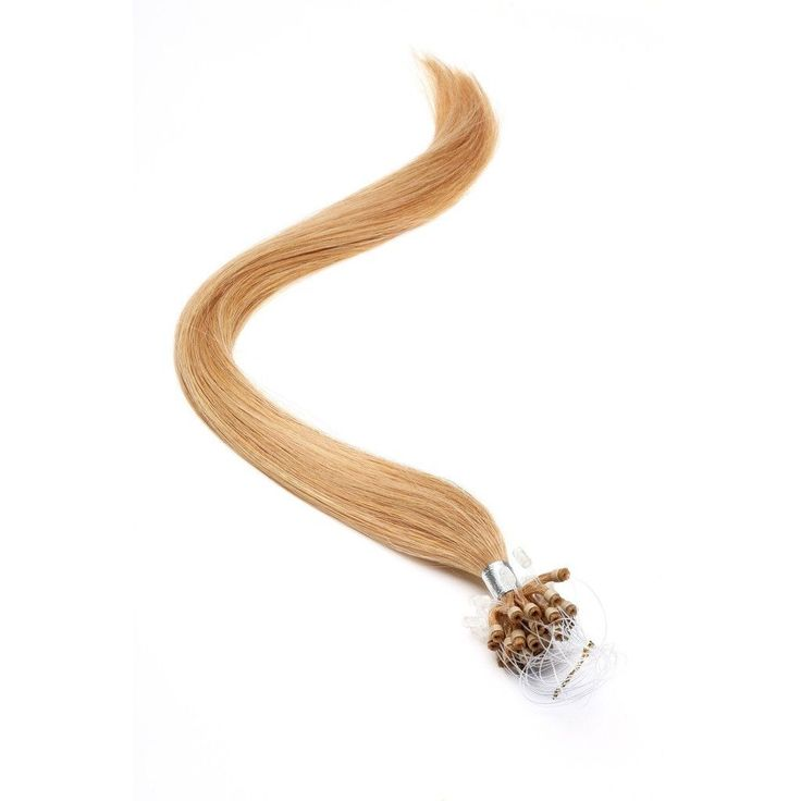 Micro Ring Hair Extensions | 18 inch | Micro Loop Hair Extensions Special Bronze Blonde (27s)