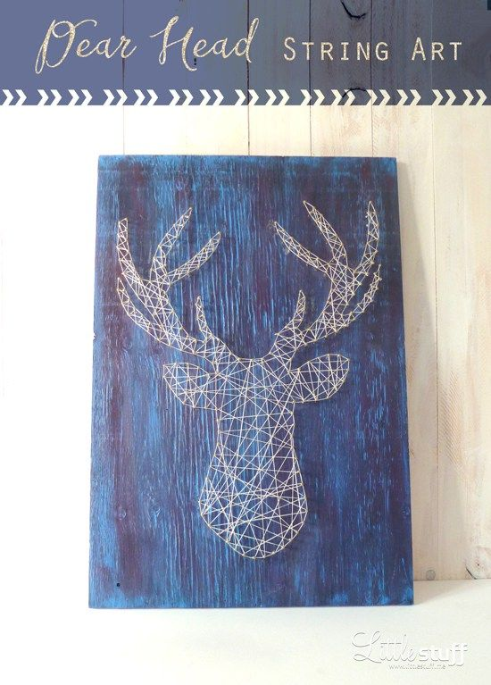 Deer Head String Art