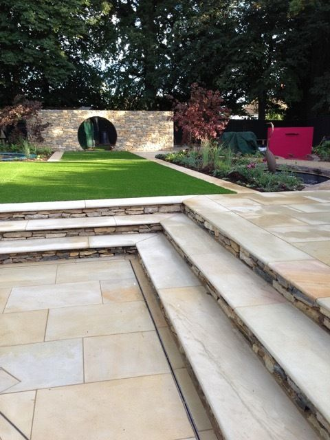 London Stone #FridayFeature - Harvest Sawn Sandstone Steps by Nic Howard - Latest Member Projects - Landscaper Network & Forum