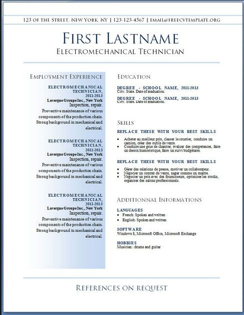 Download Resume Templates Word 2010 36 Best Simple Resume Template Images On Pinterest  Sample Resume
