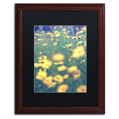 Trademark Fine Art Field of Dreams Matted Framed Art by Beata Czyzowska Young Brown Frame/Black Matte - BC0173-W1620BMF