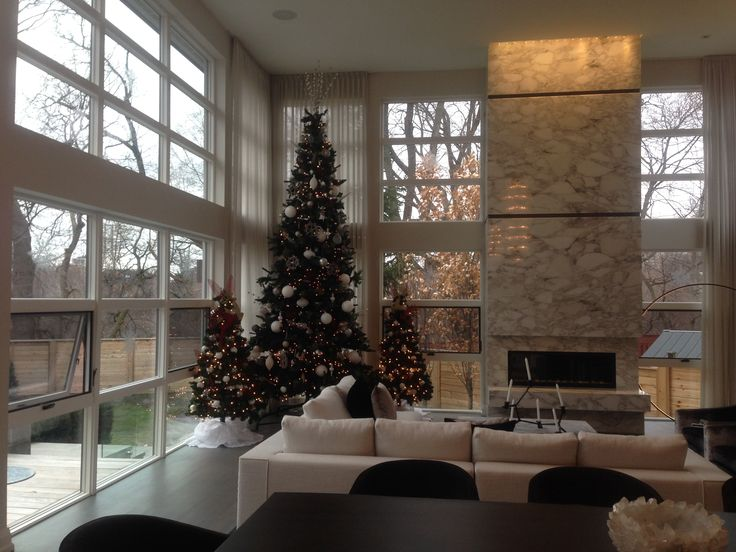 How about a TRIO of Christmas Trees for impact? Decorating homes and biz for the Holidays in Toronto.  www.deckyourhalls.ca