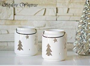 Świąteczny Biały Lampion