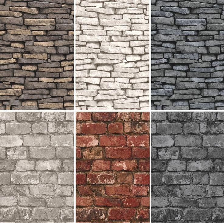NEW LUXURY DISTINCTIVE BRICK WALL STONE ROCK SLATE EFFECT 10M WALLPAPER ROLL in Home, Furniture & DIY, DIY Materials, Wallpaper & Accessories | eBay!