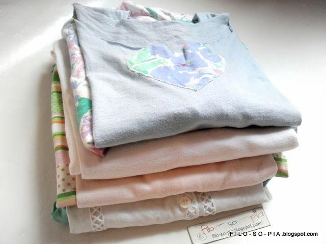 filo - so - pia: Camicie da notte estive riciclate usando vecchie lenzuola e t-shirt