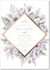 Purple Wedding Invitations & Invites by Wedding Paper Divas