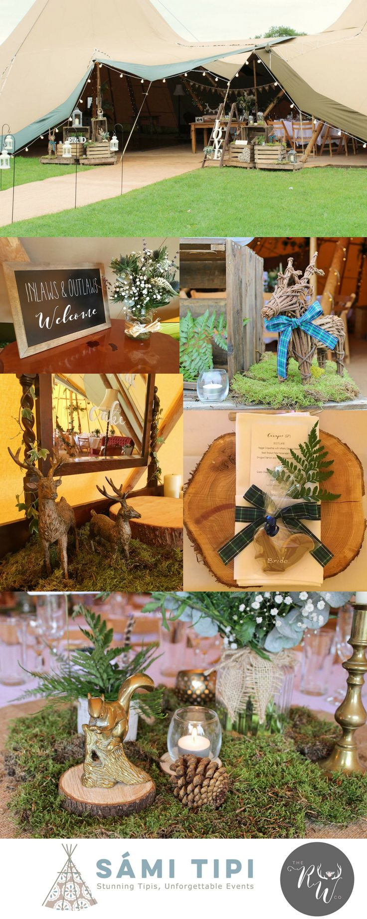 Woodland tipi styling by The Rustic Wedding Company. See more over on our blog…