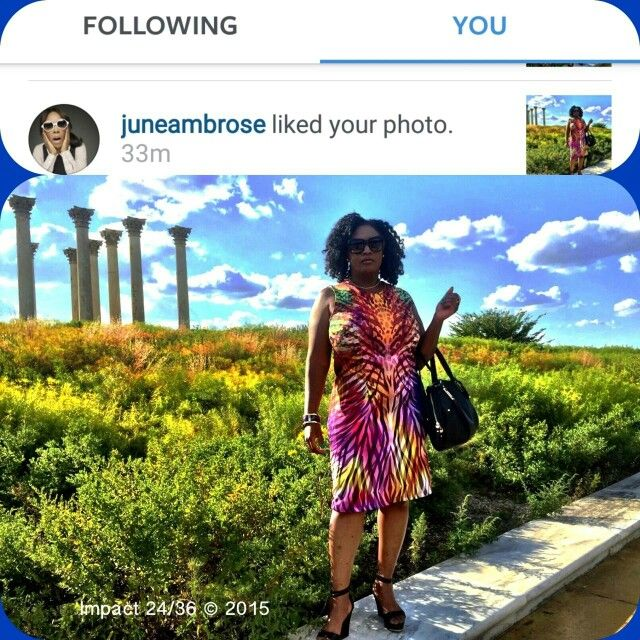 Photo by: @impact2436 Dress: June by June Ambrose Printed Classic Sheath Dress in Zebra Multi from HSN Shoes: G.I.L.I. Leather Ankle Strap Wedges - Avery from QVC  Feeling euphoria since @juneambrose liked my picture.