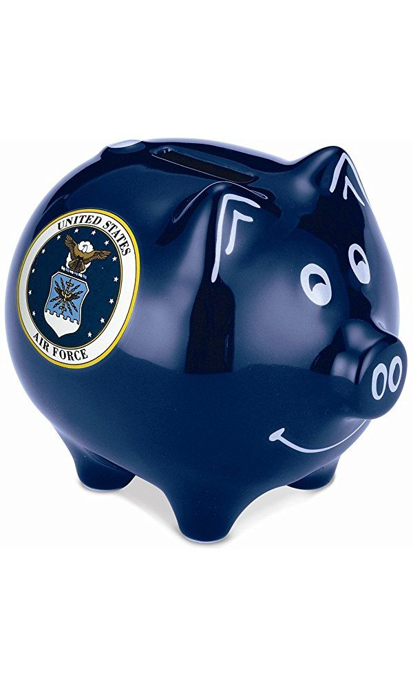 Piggy Bank Safe Air Force Stoneware Savings Money Cash Box with Coin Slot Best Price