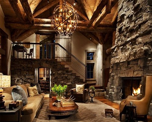 Exactly what I'd want in my mountain home. Love this!!!