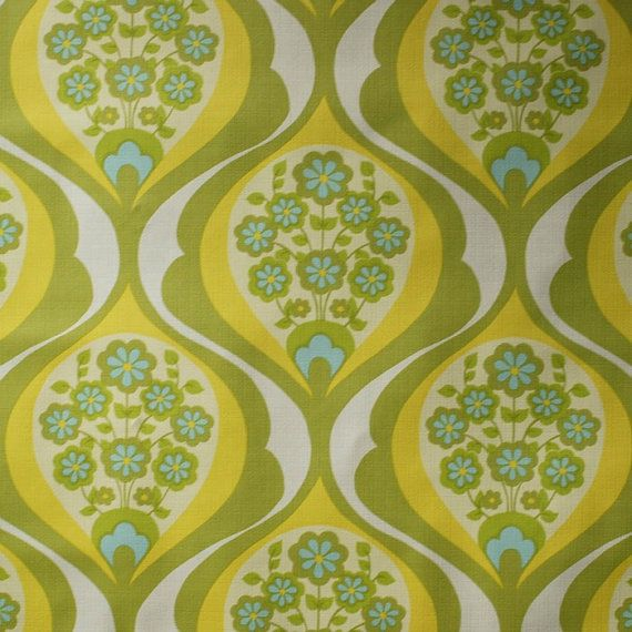 Seventies vintage wallpaper - 50 cm. Wrong era for my house, but love it..