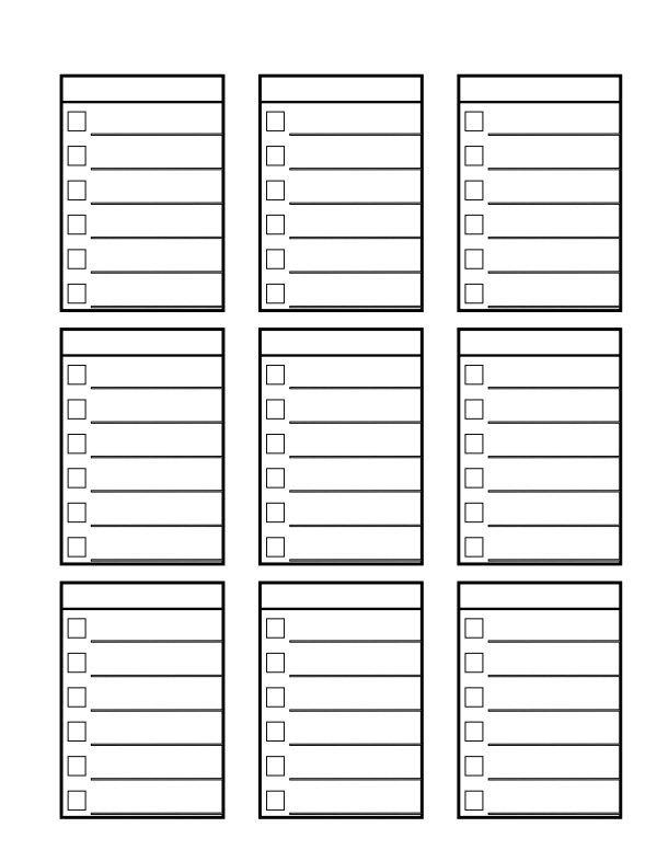 3867 best Printables images on Pinterest Free printables - bill organizer chart