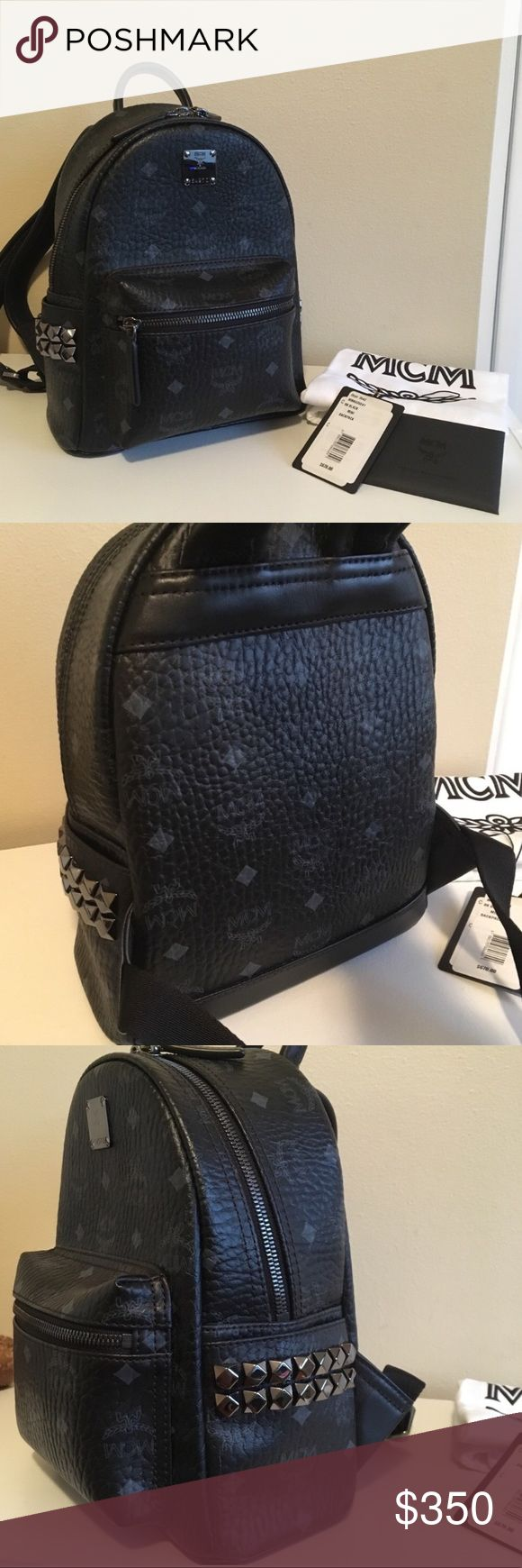 "Brand new black mcm backpack This is the Mini- size MCM backpack (not to be confused with smaller ""X-Mini Bebe Boo"" version) For negotiating prices contact 847-644-2914 MCM Bags"